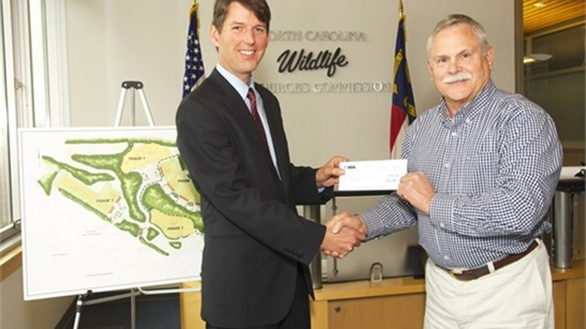 NRA supports construction of public range in North Carolina with $25,000 check
